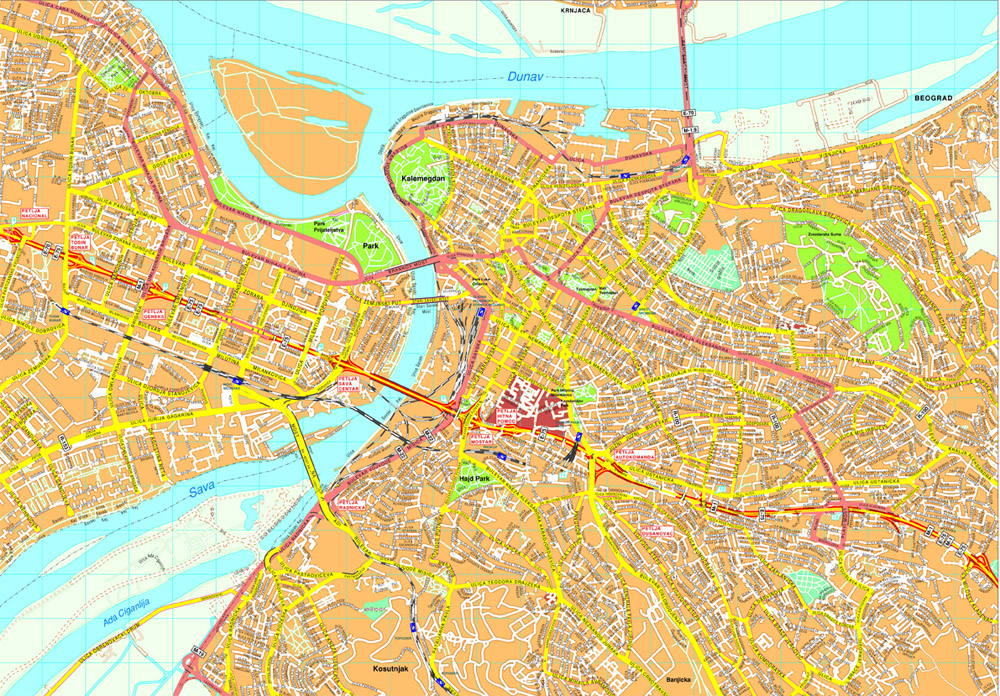 Beograd Vector Map Order And Download Beograd Vector Map