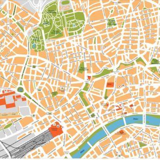 frankfurt vector map