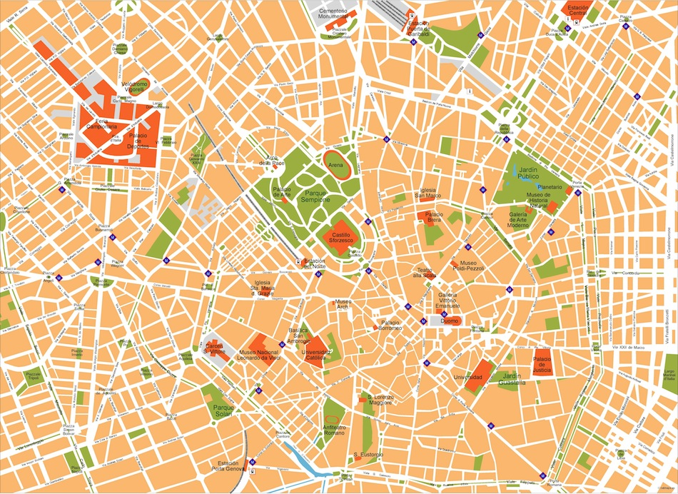 milan vector map