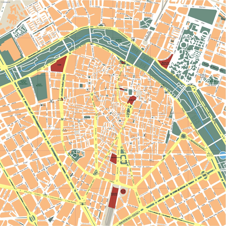 Valencia Vector Map Order And Download Valencia Vector Map