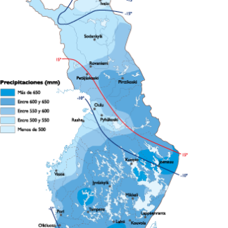 Denmark Climate Map Finland Climate map   Order and download Finland Climate map
