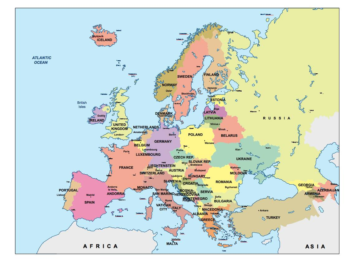 Europe Powerpoint Map Order And Download Europe Powerpoint Map