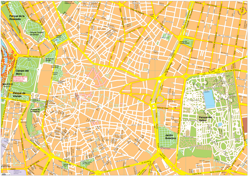 Madrid Vector Eps Map Order And Download Madrid Vector Eps Map